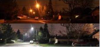 Before & After Energy Efficient Streetlights